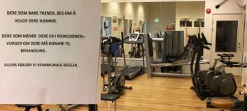 Stenger treningsrommet på grunn av korona