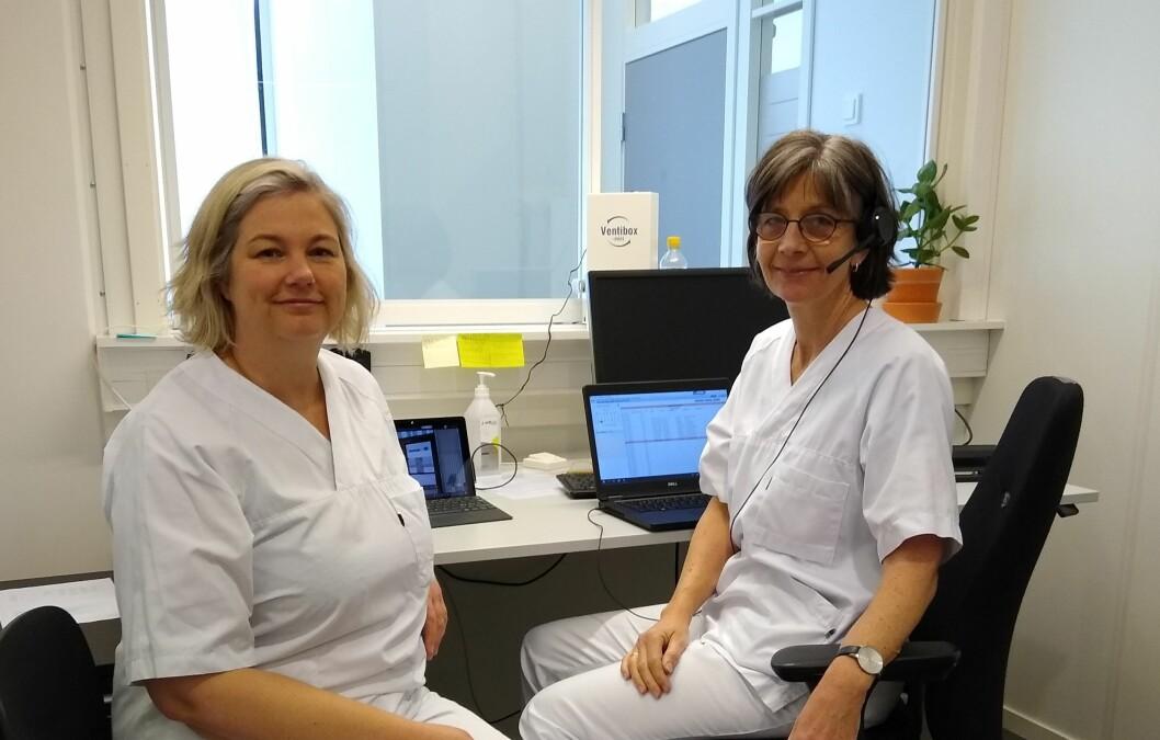 Sissel Beate Askeland (til venstre) har gått fra fysioterapi for barn og unge til å drifte et legekontor for pasienter med luftveisinfeksjon sammen med kollega Tone Marie Hammer. (Foto: privat)