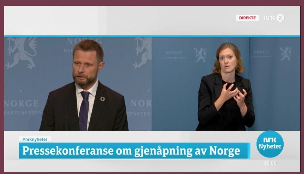 Foto: Skjermdump fra NRK.