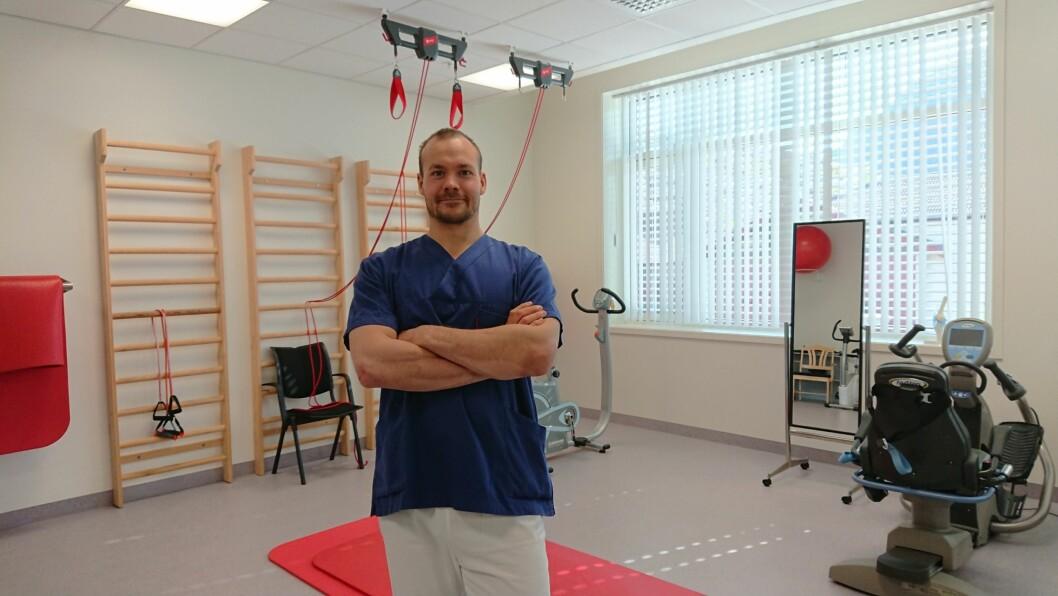 Turnusfysioterapeut Dan Kristian Karlsen syntes det var kjedelig å miste flere uker med klinisk erfaring. (Foto: privat)