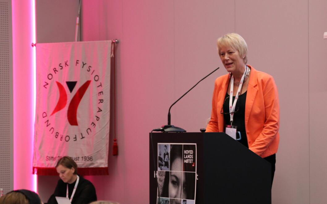 Tidligere leder i NFF, Eilin Ekeland mener det var autorisasjoner som skapte uenigheten med manuellterapeutene i 2006. Foto: Cecilie Bakken Høstmark