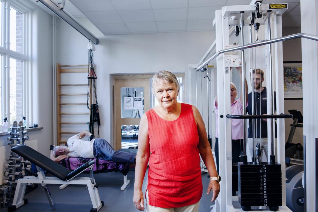 Prosjektleder Nina K. Vøllestad er stolt av hva FYSIOPRIM har levert. Her er hun på visitt på Hans og Olaf Fysioterapi i Oslo. (Foto: Stig Marlon Weston)