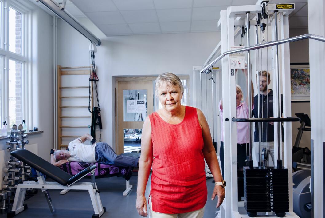 Prosjektleder Nina K. Vøllestad er stolt av hva FYSIOPRIM har levert. Her er hun på visitt hos Hans og Olaf Fysioterapi i Oslo.