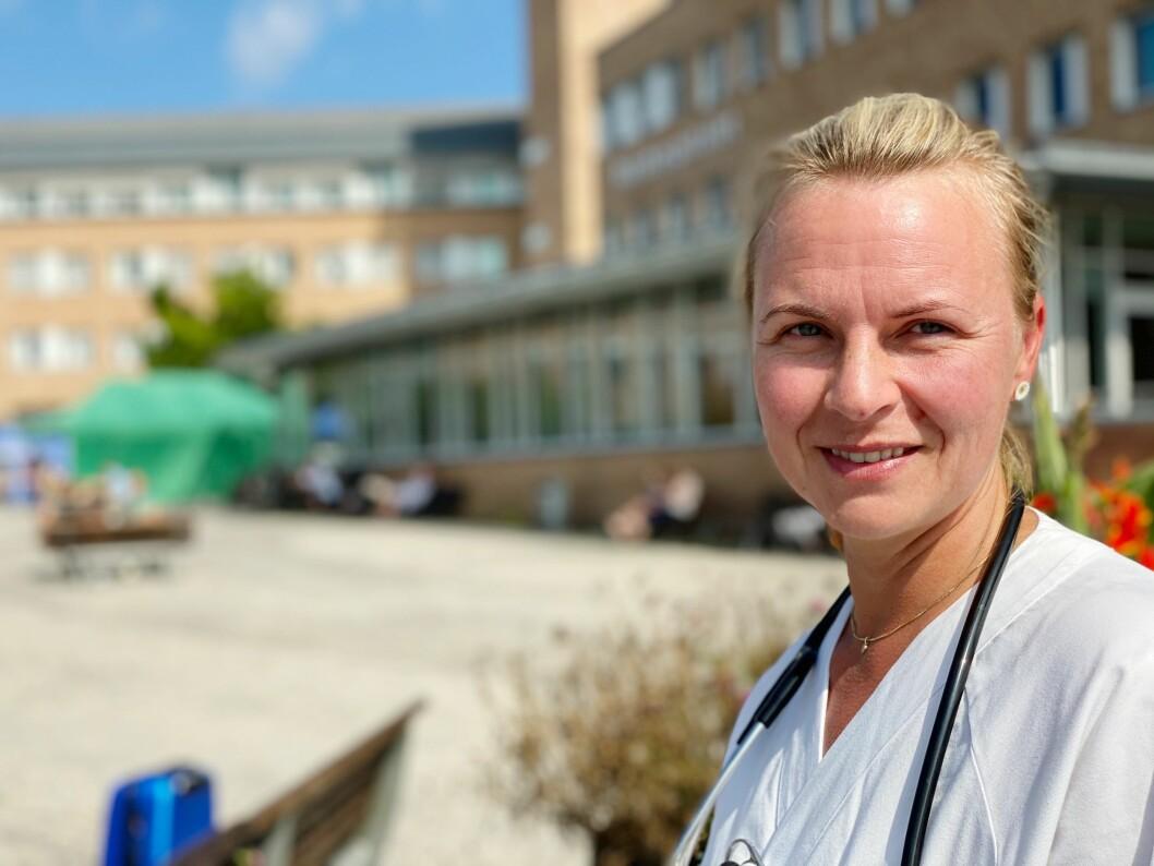 Charlotte Schanke vil bli hjerte- og lungefysioterapeu. Foto: Irene Mårdalen