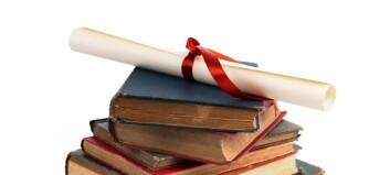 Nedgang i antall doktorgrader