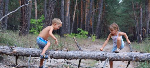 Barn vil helst leke fritt