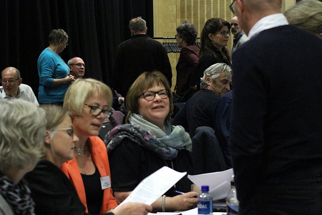 Påtroppende og avtroppende styreleder i Fondet, Eilin Ekeland (t.v.) og Nina Emaus.