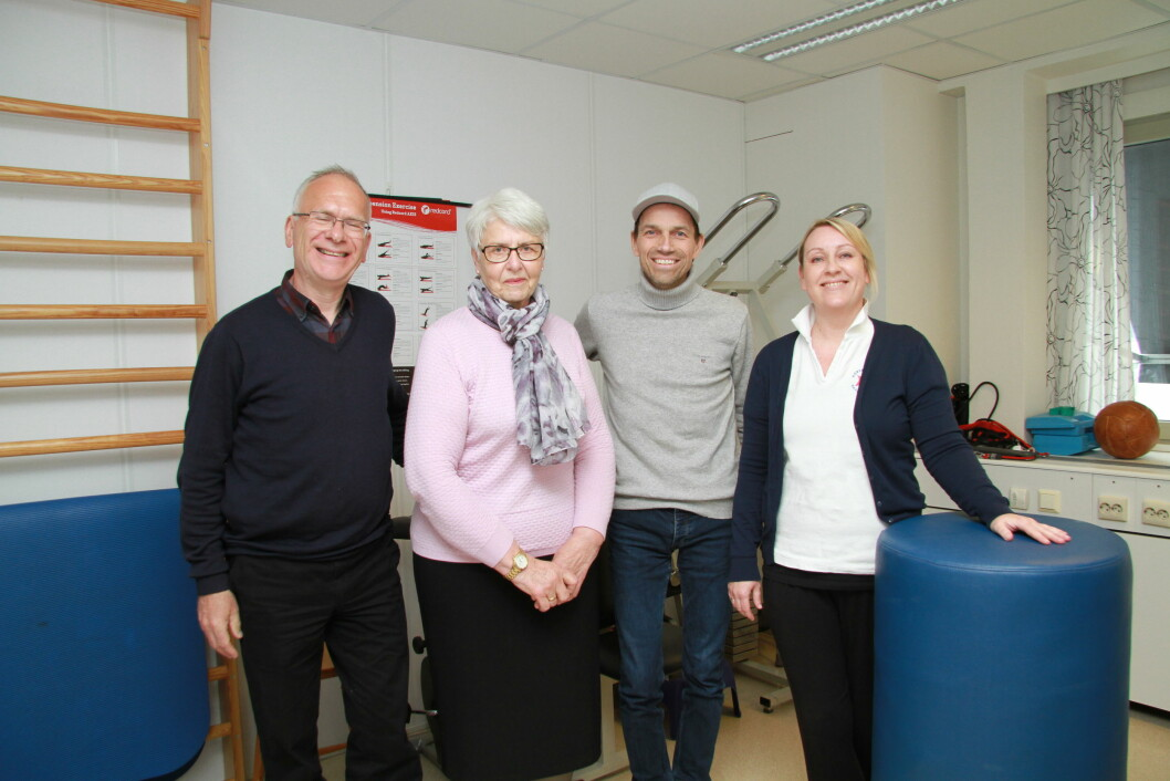 Interkommunalt spesialistsamarbeid: Atle Svendal, Helga Larsen, Bas van den Beld og Ingvild Svenningsen, Foto: Kai Hovden.