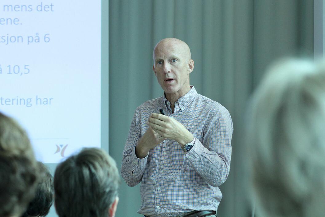 Forbundsleder Fred Haltebrekke forsikrer at NFF vil fortsette arbeidet med å bedre fysioterapeutdekningen. Foto: Kai Hovden