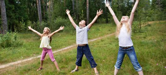 Barns aktivitetsnivå faller fra 6-7 års alderen