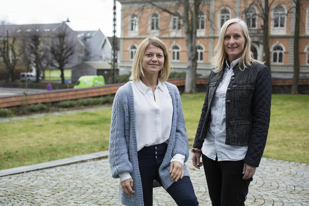 Spesialfysioterapeut Annett Henriksen (t.v.) i Helse Fonna og spesialergoterapeut Olaug Lillehammer Laukeland i Helse Bergen. Foto Silje Katrine Robinson