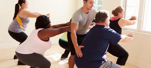 - Uetisk å si at trening hjelper deg å gå ned i vekt