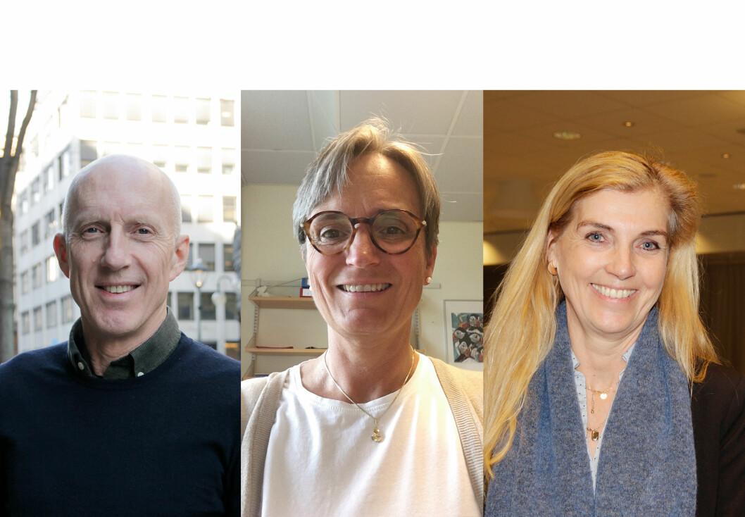 Lederkandidater: Fra venstre, Fred Hatlebrekke, Gerty Lund og Merete Tønder.