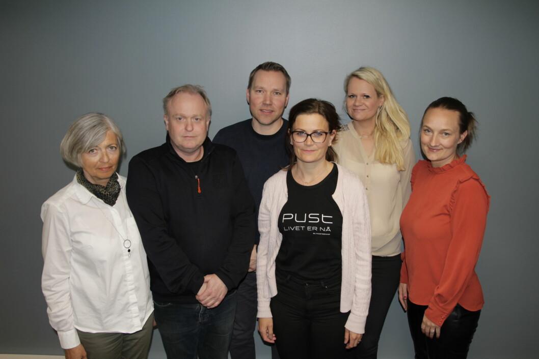 Etisk utvalg, fra venstre: Else Høgalmen, Stig Morten Fløisand (leder), Robert Grønbech, Martha Kvalvik Størksen, Mona Raddum Loe (sekretær) og Marit Brustugun Sartz.