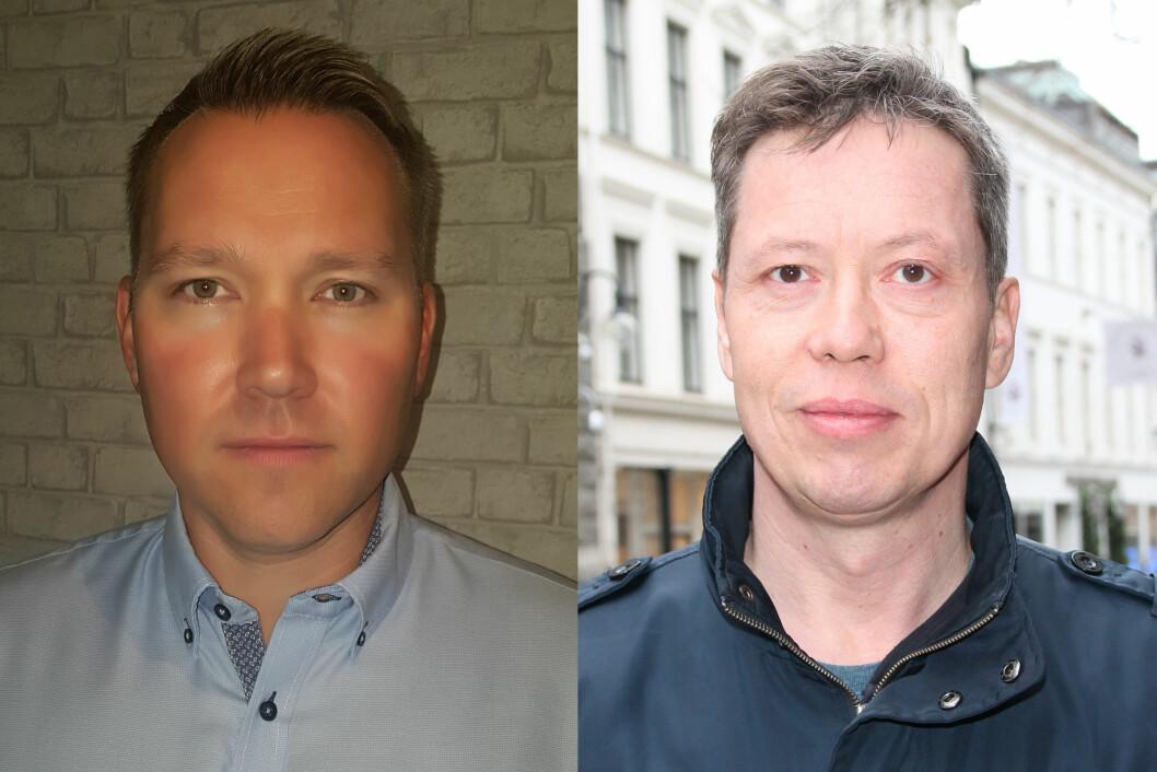Robert Grønbech (til venstre) og Hans Leo Dagsvik.