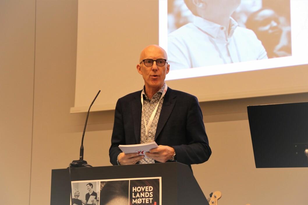 Leder Fred Hatlebrekke i Norsk Fysioterapeutforbund (NFF) holdt sin tale til Hovedlandsmøtet 20. november 2019.