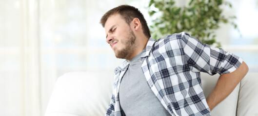 Studie: Antibiotika hjelper ikke mot ryggplager
