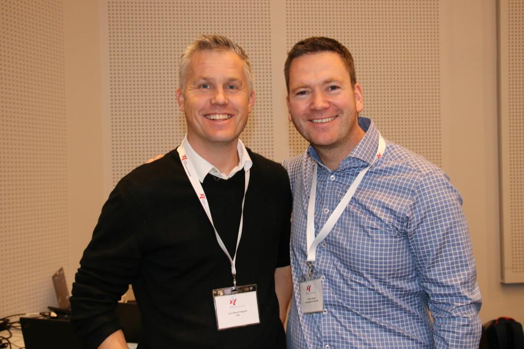 Lars Håvard Høgvoll (til venstre) og Per Olav Moberg Peersen jobber videre med de næringsdrivende fysioterapeutenes interesser gjennom Næringspolitisk råd (NPR).