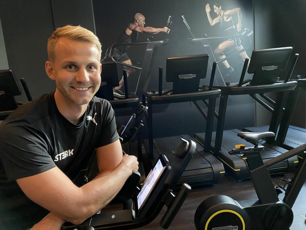 Ådne Øvergaard jobber både som fysioterapeut og personlig trener ved Sterk Helse på Løren.