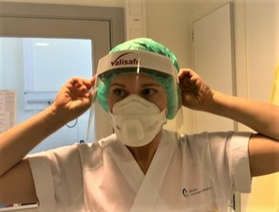 Profesjonsetikken er uendret, men utfordringene annerledes, skriver etikkrådene til både fysioterapeutene, legene og sykepleierne i en felles kronikk om koronapandemien. Bildet er fra Oslo universitetssykehus.