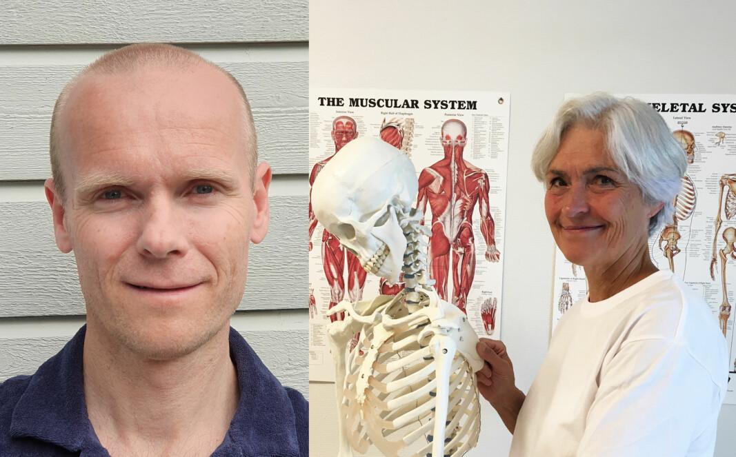 Forsker Ynge Røe og fysioterapeut Elisabeth Thornes mener god informasjon til skulderpasienter er viktig.