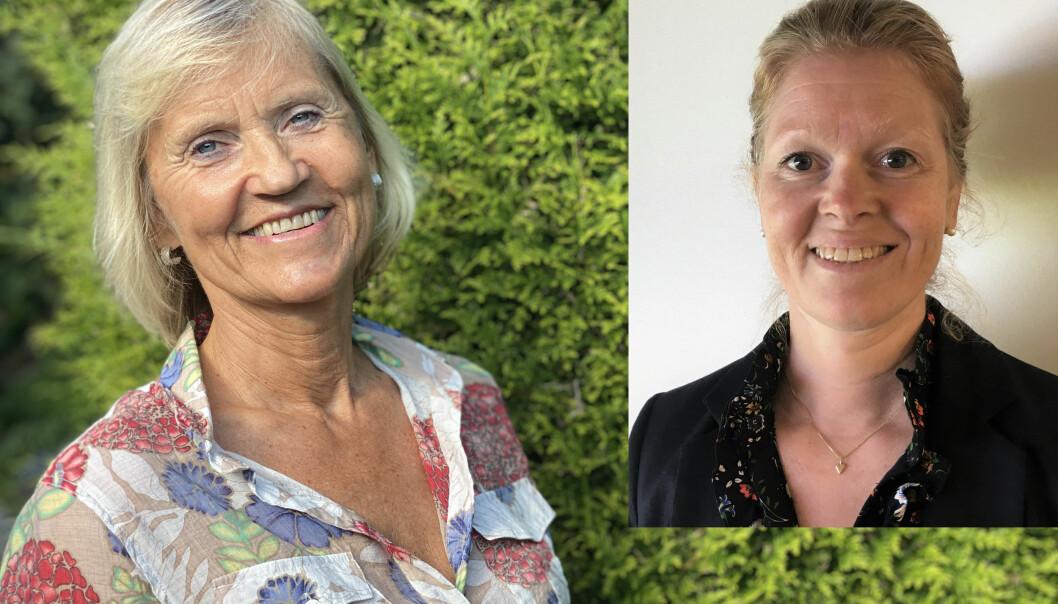Forsker Britt Stuge (til venstre) ved Oslo universitetssykehus og Nina Theodorsen, tidligere leder i NFFs faggruppe for kvinnehelse.