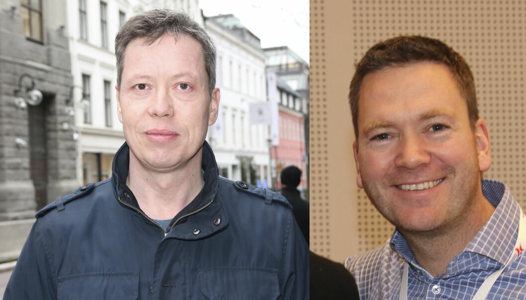 Regionleder Hans Leo Dagsvik (til venstre) og leder for Næringspolitisk råd (NPR) Per Olav Moberg Peersen.
