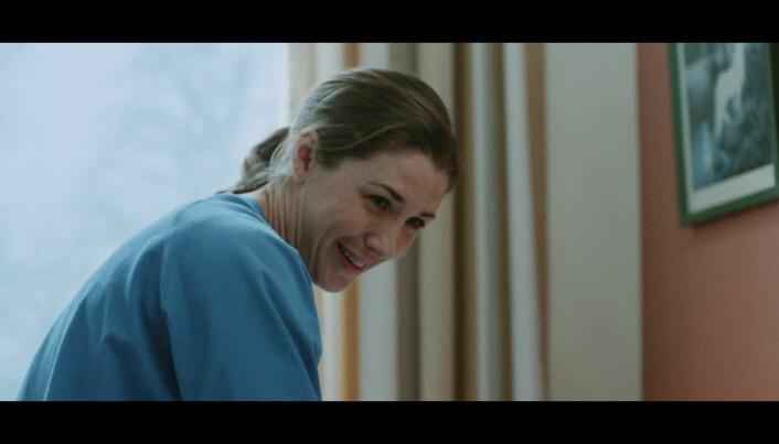 """""""Fysioterapeuten"""" var ekstra fornøyd med den behagelige uniformen."""