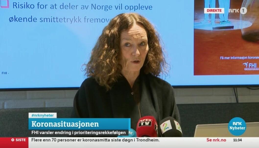 Faksimile fra pressekonferansen på NRK.