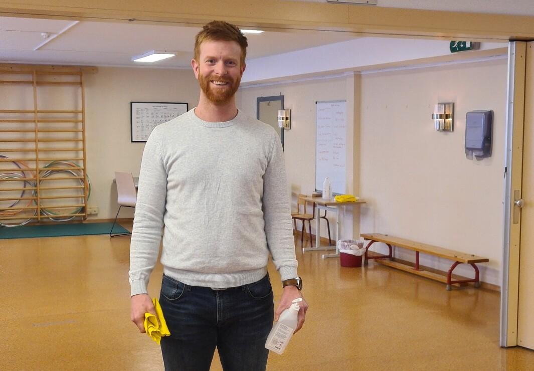 Fagleder for fysioterapitjenesten i Halden, Jens Fredrik Aas.