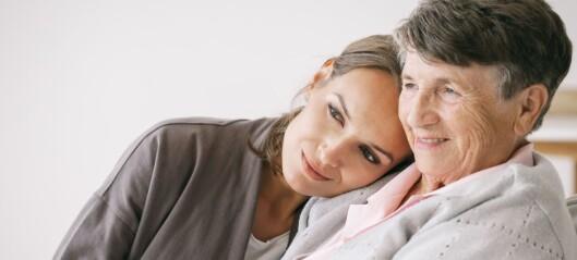 Fysioterapeut vil ta vaksine for å kunne klemme bestemor