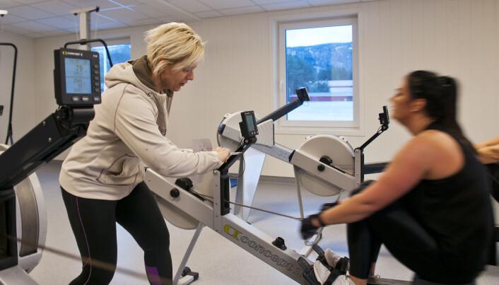 Fysioterapeut Cathrine Hustad.
