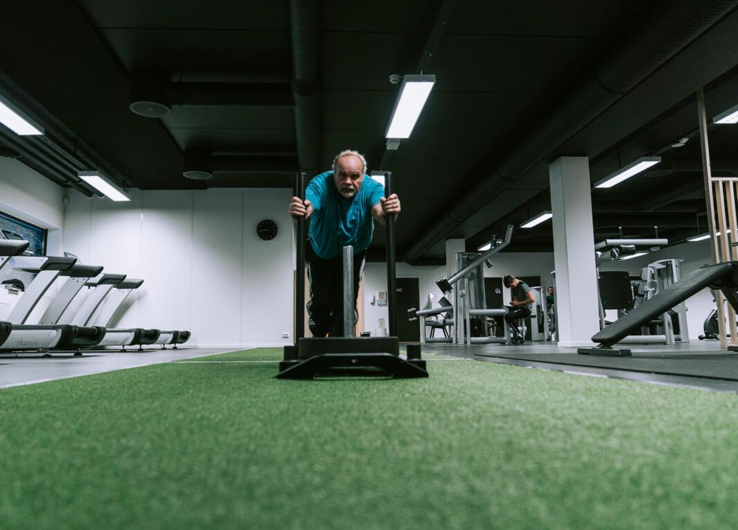 Kjell Inge Gramstad trener hardt på Movon i Sandnes.
