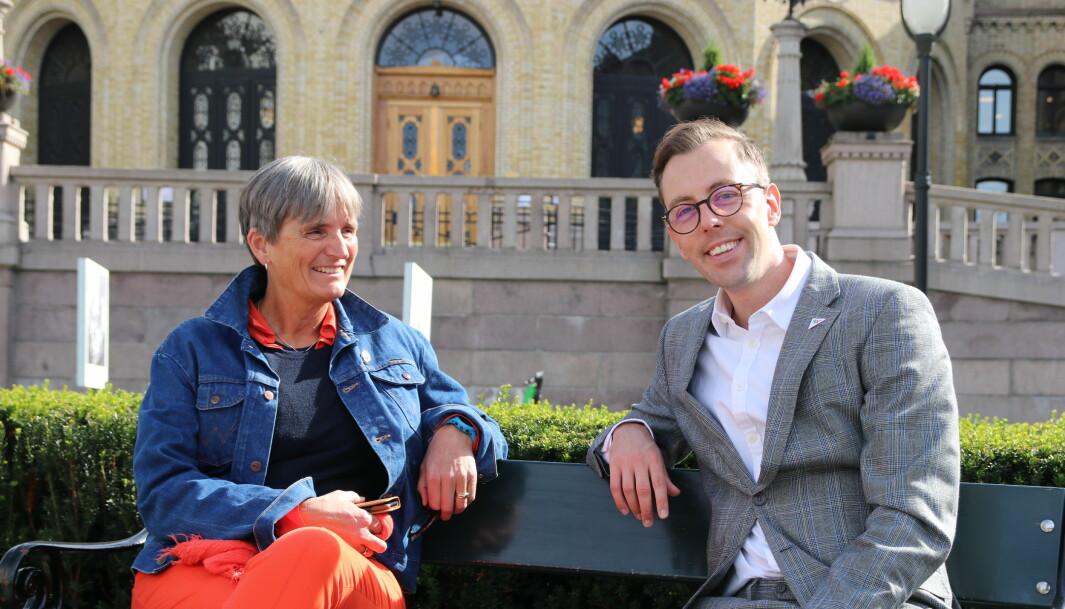 Optimister: I November trodde forbundsleder Gerty Lund og SV-representant Nicholas Wilkinson de ville få flertall for et eget rehabiliteringsutvalg.