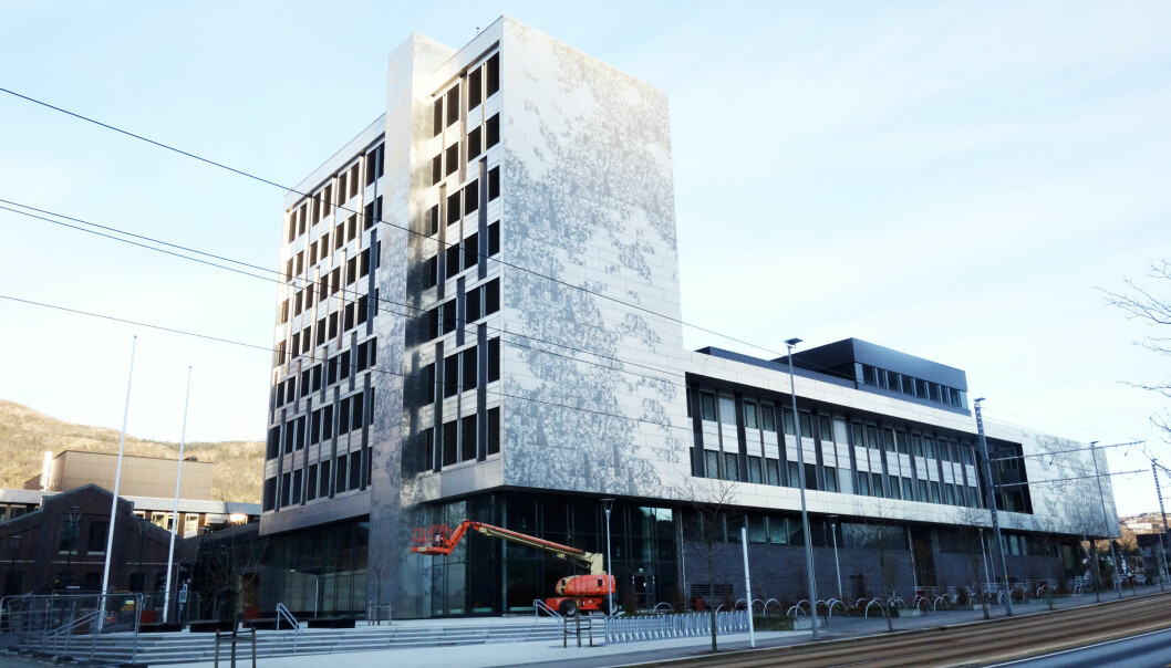 K1-bygget på Høgskulen Vestlandet, hvor fysioterapistudentene har undervisning.