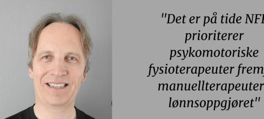 Krever at NFF prioriterer psykomotoriske fysioterapeuter i takstforhandlingene