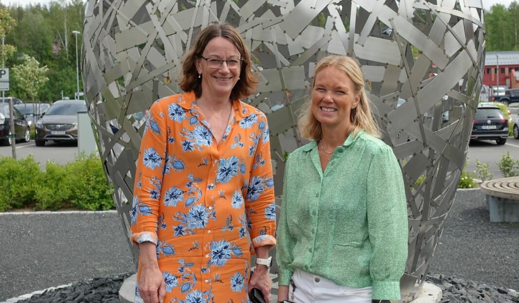Solrun Flatås Risnes og Lisbeth Tveit Olsen ønsker mer fysioterapi for videregående elever.