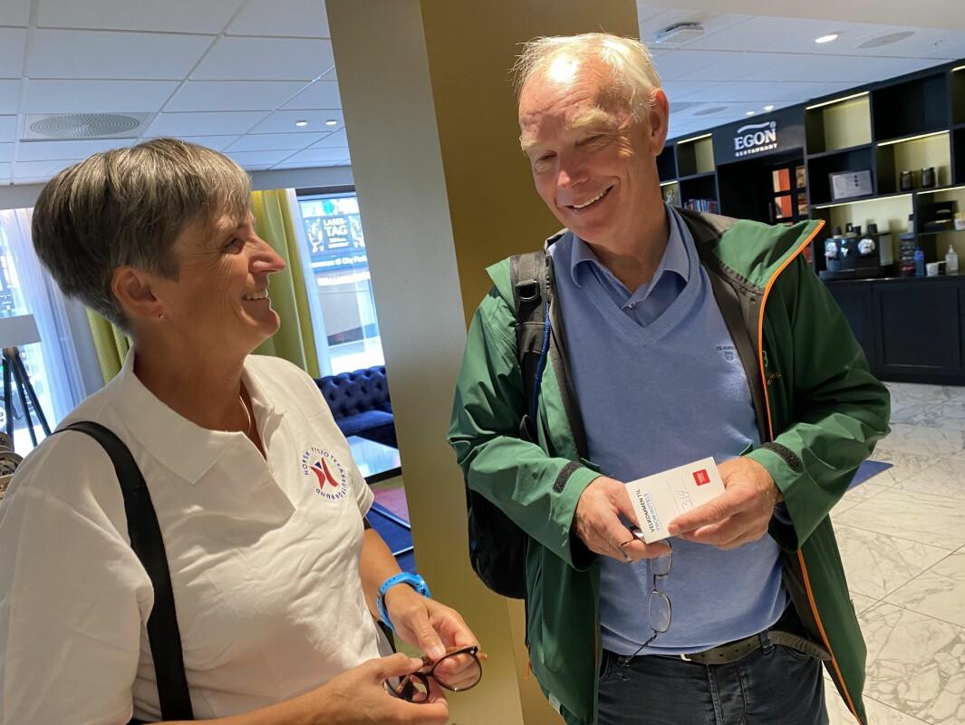 Gerty Lund og Per Olaf Lundteigen under Arendalsuka.