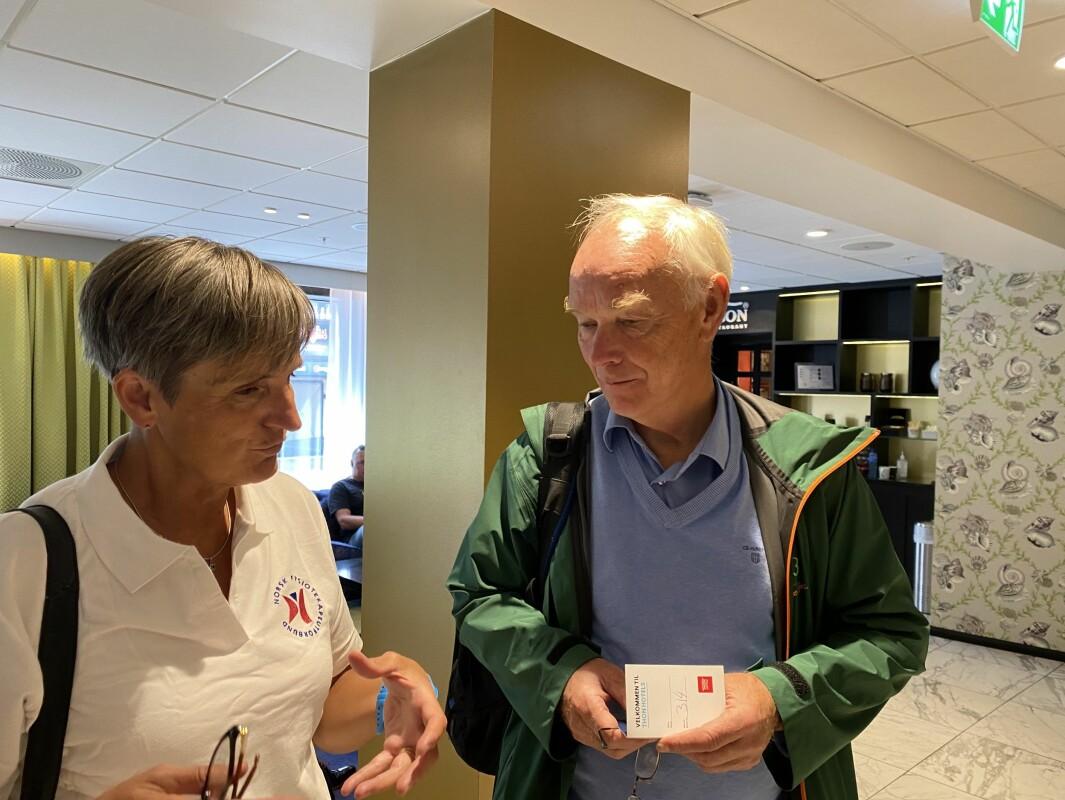 Per Olav Lundteigen inviterte Gerty Lund til å ta en sterk stemme i debatten om Folkehelse.