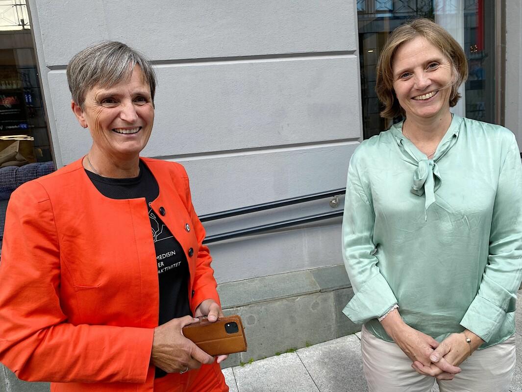 Forbundsleder Gerty Lund inviterte Kjersti Toppe til samarbeid. Toppe sa ja.