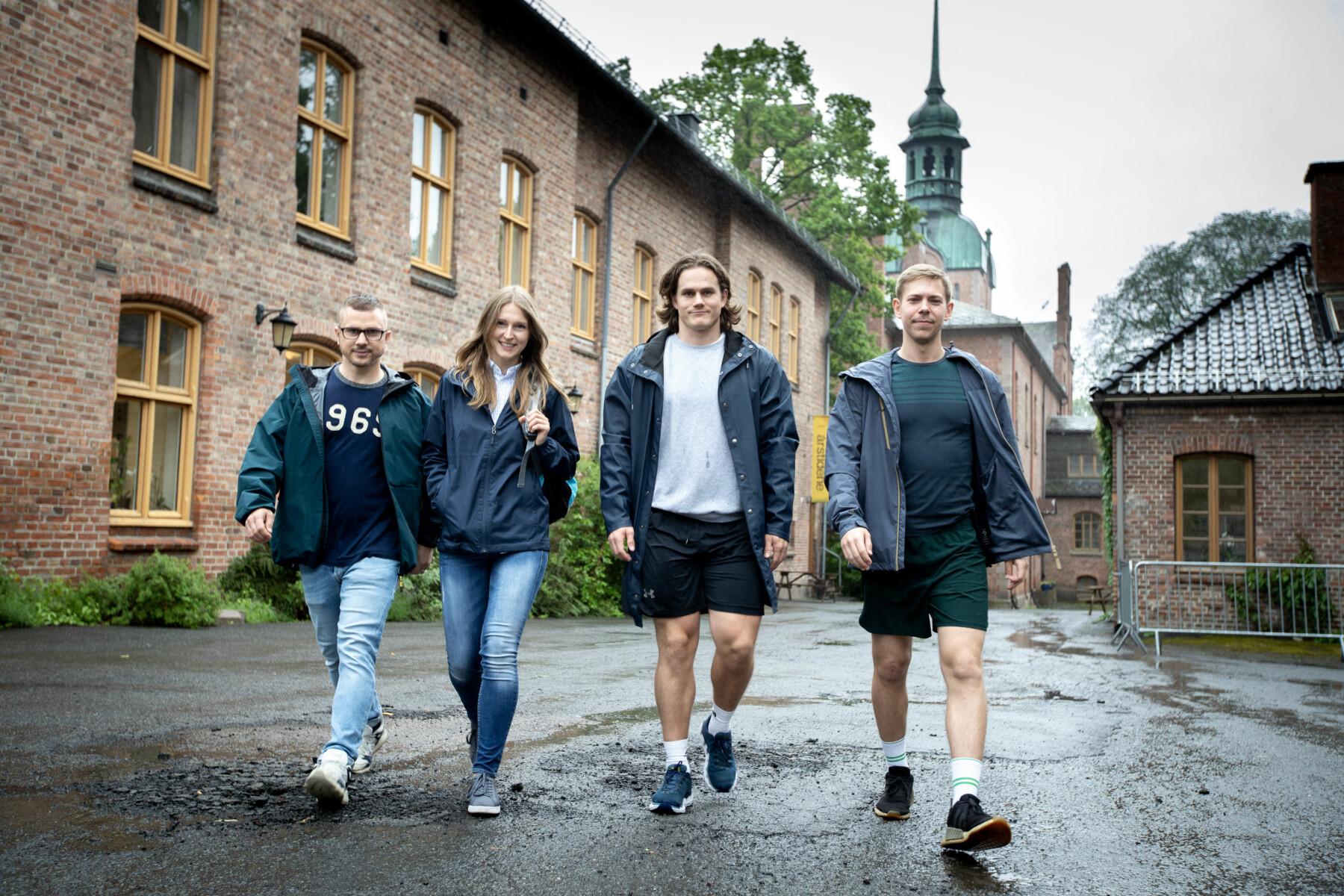 Fra venstre Daniel Ferretti, Katarzyna Dabrowska, Are Weidemann og Helge Haugdal.