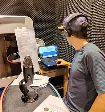 Programleder Martin Moum Hellevik under innspilling av episode 3.