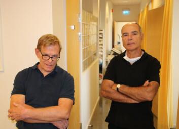 Pål Syvertsen (t. v) og Jean-Jack Degenne skulle egentlig gå av med pensjon i høst. Uenighet om driftshjemler gjør at de må jobbe videre.