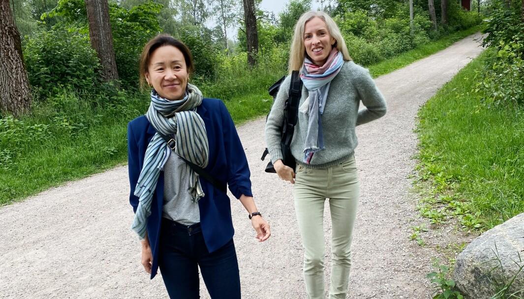 Maren Hjelle Guddal (til høyre) og Marianne Bakke Johnsen.