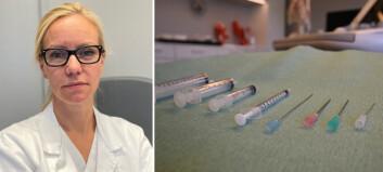 Vi er bekymret for økende bruk av injeksjoner