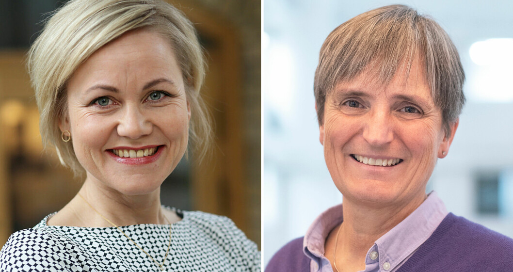 Forbundsleder Gerty Lund i NFF håper på godt samarbeid med helse- og omsorgsminister Ingvild Kjerkol.