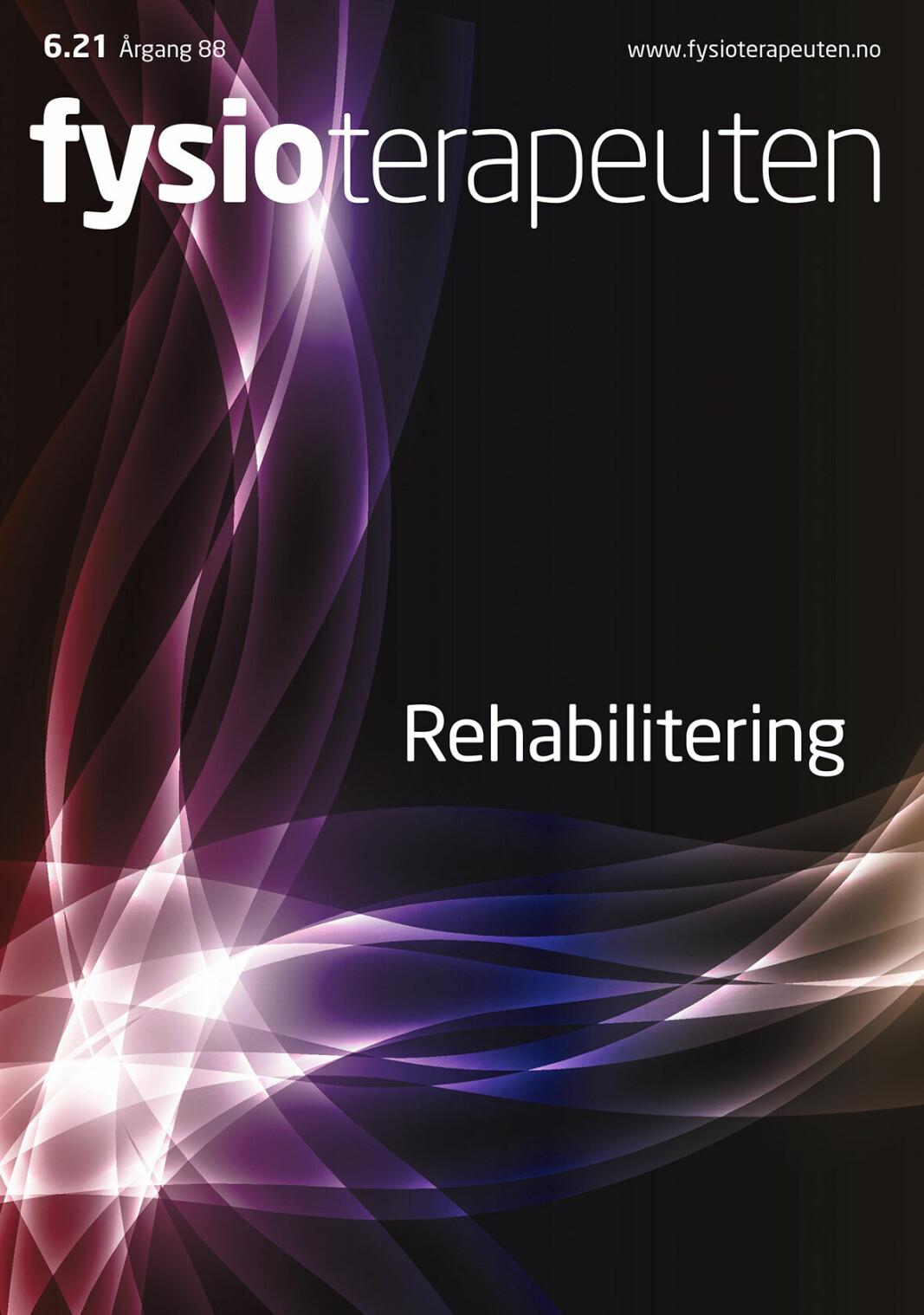 Rehabilitering: Fysioterapeuters domene?